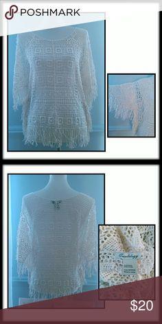 1/2 OFF CLOTHING BUNDLES NWOT  Crochet Shirt NWOT Fring Detail Trendology  Tops