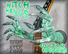 Guitar Hanger Designs by DeathGrips Guitar Hanger, Hangers, Witch, Etsy Seller, Design, Coat Racks, Hanger Hooks, The Hunger