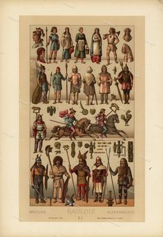 Gladioators   1888 Antique Original Lithograph by Printvilla4you
