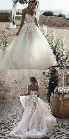 Wedding Dress Train, Sweetheart Wedding Dress, Country Wedding Dresses, Princess Wedding Dresses, Long Wedding Dresses, Tulle Wedding, Cheap Wedding Dress, Boho Wedding Dress, Wedding Gowns