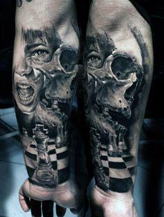 3d man forearm tattoo