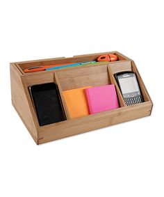Bamboo Desk Charging Station | something special every day