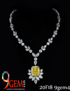 Look elegant by adorning  classy yellow sapphire necklace.