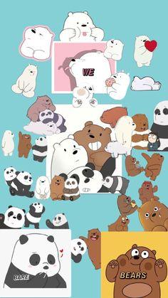 Cute Panda Wallpaper, Cute Wallpaper For Phone, Bear Wallpaper, Cute Patterns Wallpaper, Cute Disney Wallpaper, We Bare Bears Wallpapers, Panda Wallpapers, Pretty Wallpapers, Cute Cartoon Wallpapers