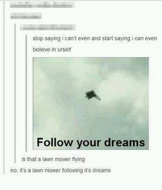 Flying Lawnmower...