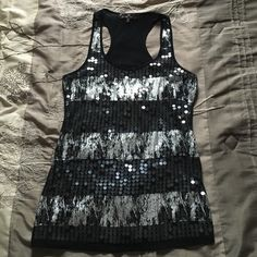 Cute sequence top Like new! Only worn once or twice Tops Tank Tops