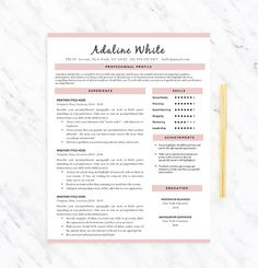 I Love The Gold And Blue Details On This Creative Resume Template