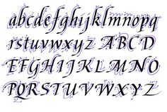 kaligrafia - alfabet