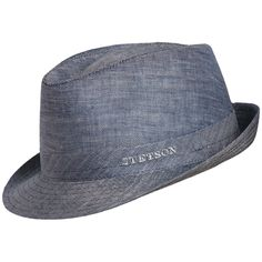 42aa7d5ec75 Go out in style with this classic fedora. Constructed of linen