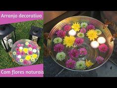 Arranjo decorativo com flores naturais- muito fácil - YouTube