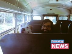 Breaking news! They let doggies ride the bus and kayak in the Rainbow River in Dunnellon, FL. Soooo cool!