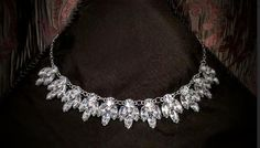 Elegant Crystal Clear Bib Necklace by BlingAfterTheRing on Etsy