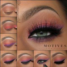Motives® Eye Base - Einzelglas g) - Beauty - Make Up Orange Eye Makeup, Dramatic Eye Makeup, Eye Makeup Steps, Colorful Eye Makeup, Makeup For Green Eyes, Eyebrow Makeup, Face Makeup, Purple Eyeshadow, Eyeshadow Looks