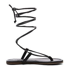 PILYQ Gladiator Sandal Shoes (1 020 ZAR) ❤ liked on Polyvore featuring shoes, sandals, roman sandals, synthetic shoes, gladiator sandals shoes, lace up gladiator sandals and greek sandals