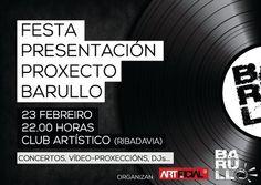 Festa-presentación Proxecto Barullo @ Clube artístico - Ribadavia (Ourense) concertos conciertos musica
