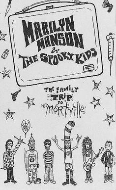 Marilyn manson & the Spooky kids Art by Marilyn Manson