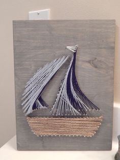 "Sailboat String Art- 9""x12"" by StrungBySteel on Etsy https://www.etsy.com/listing/253263050/sailboat-string-art-9x12"
