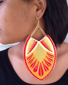 Afrocentric Fabric Earrings Egyptian Ethnic by classyaccents, $12.00