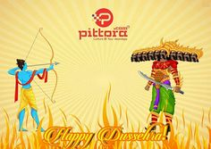 """#Dussehra is a Sanskrit word which means #removal of ten bad qualities within you: Ahankara (Ego) Amanavta (Cruelty) Anyaaya (Injustice) Kama vasana (Lust) Krodha (Anger) Lobha (Greed) Mada (Over Pride) Matsara (Jealousy) Moha (Attachment) Swartha (Selfishness) Hence, also known as 'Vijaydashami' signifying """"Vijaya"""" over these ten bad qualities.  #Happy #Vijaydashami #happy #Dussehra www.pittora.com"""