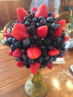 Berry arrangement I made for a wedding shower.