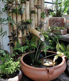 bamb fuentes jardin rustica fuentes de jardin rusticas jardines acuticos mini jardines fuentes rusticas y el agua proyecto jardin arte decoracin
