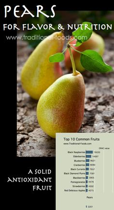 Pear Antioxidants @ Traditional-Foods.com