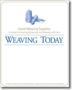 Take the guesswork out of your weaving projects and learn how to select the perfect weaving yarns and hand weaving supplies with this free download. Three helpful tutorials included in one eBook for beginners and experienced weavers alike.