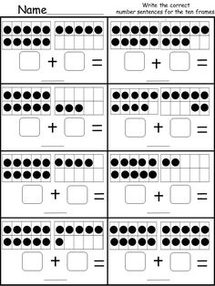 Ten Frame Worksheets for Kindergarten. Ten Frame Worksheets for Kindergarten. Learn Your Child S Math with This Ten Frame Printable Tens And Ones Worksheets, Addition And Subtraction Worksheets, Free Kindergarten Worksheets, Numbers Kindergarten, Math Addition, Free Printable Kindergarten Worksheets, Subtraction Kindergarten, Kindergarten Learning, Ten Frame Activities