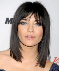Jessica Szohr Bob Hairstyle - Medium Straight Casual - Black