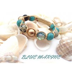 "Handmade shamballa bracelet ""Blue Marine"".  #handmade #jewelry #accessories #bracelet http://mghandmade.com/"