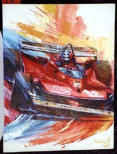 車やモータースポーツの絵 Gilles Villeneuve Monaco GP [1979]