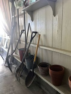 Potting shed ideas! Wishbone Chair, Shed, Gardens, Country, Furniture, Ideas, Home Decor, Decoration Home, Rural Area