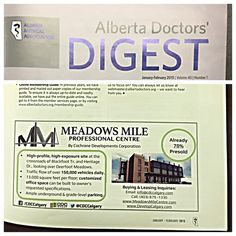 Our #MMPC advertisement in the Alberta Doctors' Digest. Presale is open and limited! #onthemile #yycre