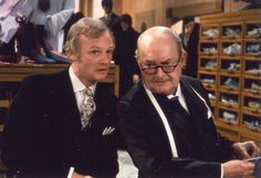 Mr. Humphries and Mr. Grainger British Tv Comedies, British Comedy, 80s Kids Shows, 80s Tv Series, Are You Being Served, Bbc Tv Shows, British Humor, Comedy Tv, Classic Tv
