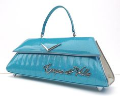 Coupe deVille Tiffany Blue & White with Tuck & Roll. Couture Vintage Car inspired Handbag. Handmade in the USA by RevampProductions, $400.00