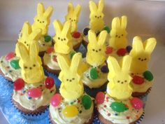 Easter cupcakes made from Glutino cake mix.