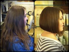 Before and after haircut. Serenity Hair Lounge