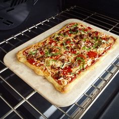 Charcoal Companion Rectangular Pizza Stone PC9480  13 x 15 ** To view further for this item, visit the image link.