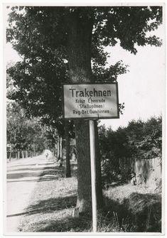 Trakehnen, Ortsschild