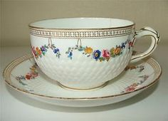 Antique c1880s Minton Porcelain Tea Cup & Saucer Pattern 5223 Large | eBay