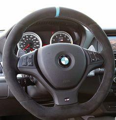 BMW E70 x5 M E71 x6 M Performance Alcantara Sport Steering Wheel Blue Stripe New | eBay