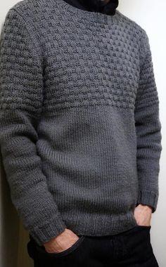 Finsbury Park Sweater Strickmuster von Jane Howorth knitting for beginners knitting ideas knitting patterns knitting projects knitting sweater Mens Knit Sweater Pattern, Sweater Knitting Patterns, Knitting Designs, Knit Patterns, Baby Knitting, Men Sweater, Free Knitting, Finger Knitting, Knitting Tutorials