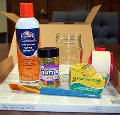 On a lighter note...: DIY: Glitter Mason Jars