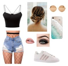 """""""Summer bae"""" by veera-vihmo on Polyvore featuring WithChic, Victoria Beckham, Gray Malin, ASAP and adidas"""