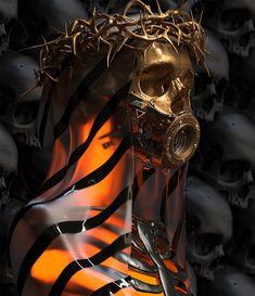 Stream Xtradil - Self Destruction by Xtradil from desktop or your mobile device Arte Horror, Horror Art, Tattoo Sketches, Tattoo Drawings, Arte Zombie, Skeleton Art, Dark Fantasy Art, Fantasy Women, Gothic Art