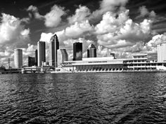 Photo of the City of Tampa in Black & White