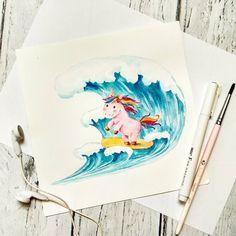 #unicorn #watercolorlogo