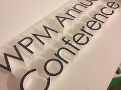 Foamex faced polystyrene letters