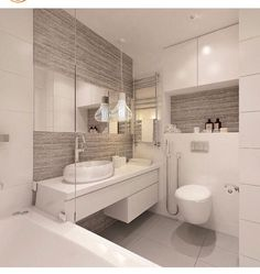 Grey and white bathroom Bathroom Layout, Bathroom Interior Design, Decor Interior Design, Contemporary Bathrooms, Modern Bathroom, Small Bathroom, White Bathroom, Rustic Bathrooms, Grey Bathrooms