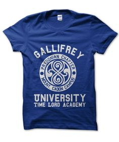 Gallifrey University Dr Who Time Lord t-shirt by Clique Wear Doctor Who Shirts, Time Lords, Modest Outfits, University, My Style, Mens Tops, T Shirt, How To Wear, Clothes